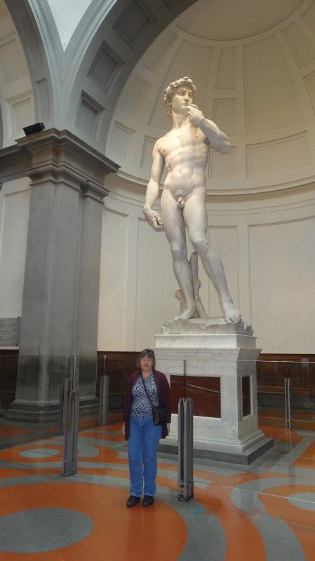 A brief moment alone with Michelangelo's David in Florence
