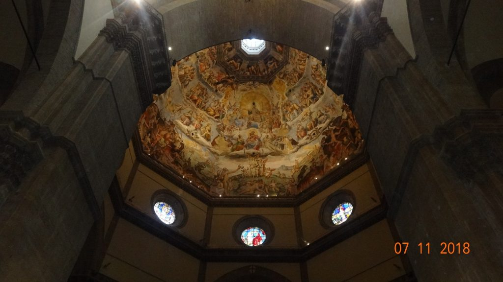 Inside view of Filippo Brunelleschi's Dome in Florence cathedral