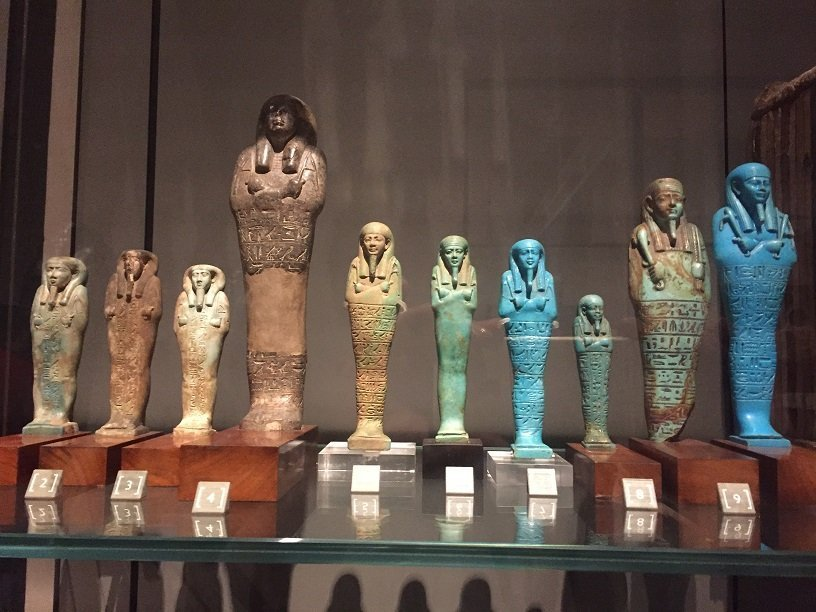 Coloured models at the Egyptian Museum