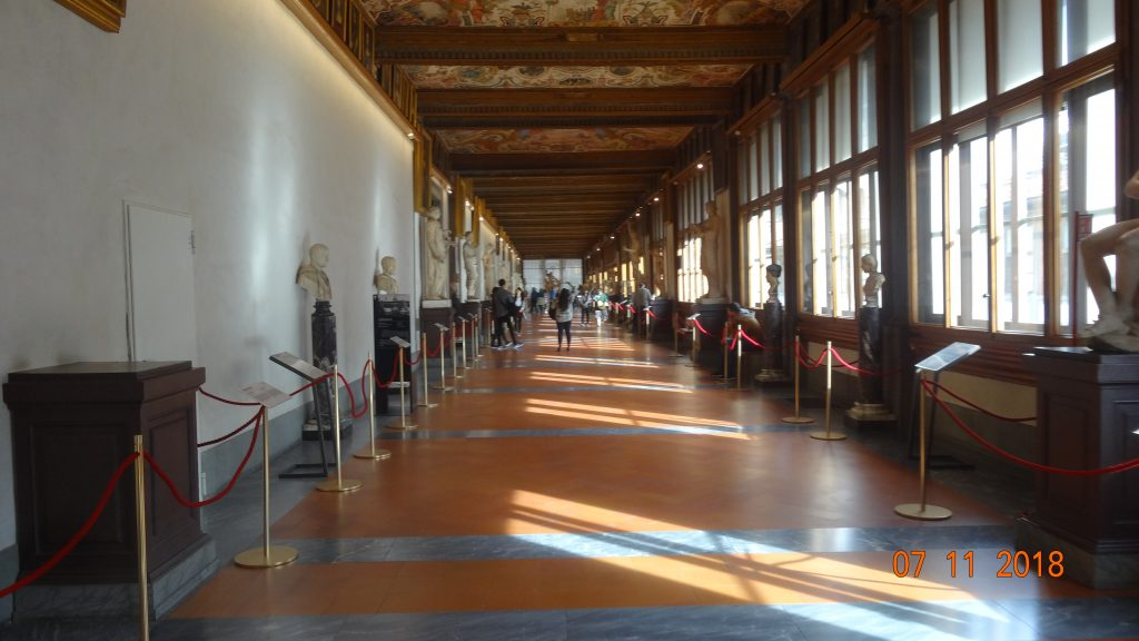 Exploring a delightfully quiet Uffizi Gallery