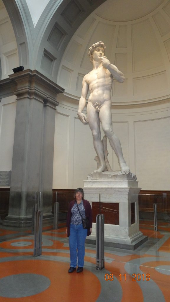 A quiet moment alone with Michelangelo's David at the Accademia Gallery