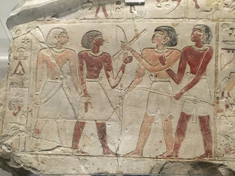 Wall paintings at the Egyptian Museum in Turin