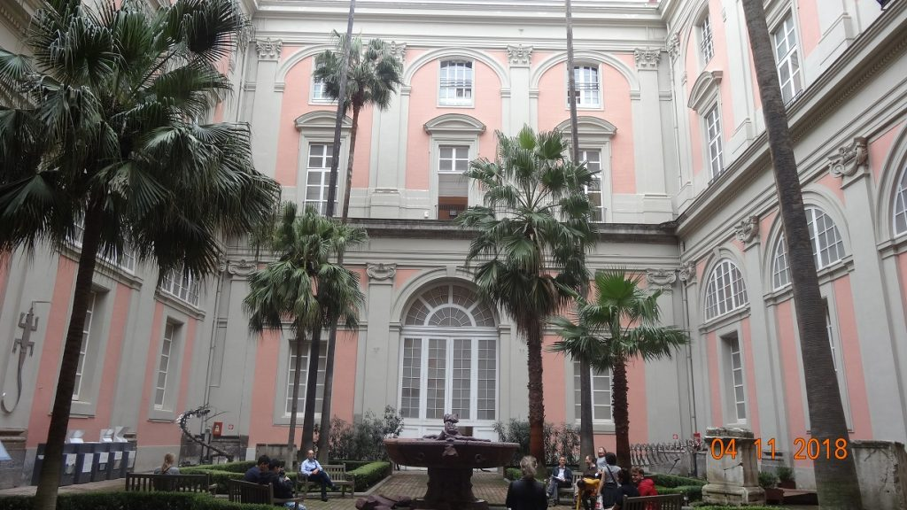 Inner Courtyard Naples Archaeological Museum