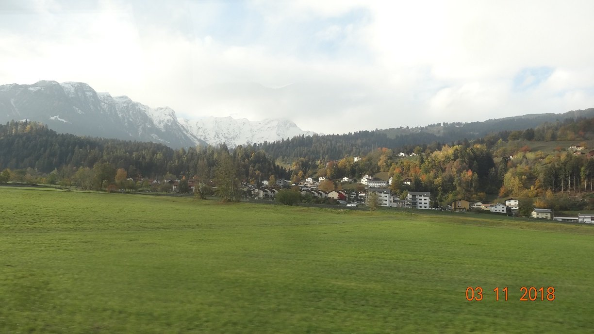 Fabulous Swiss Scenery on our train to Italy