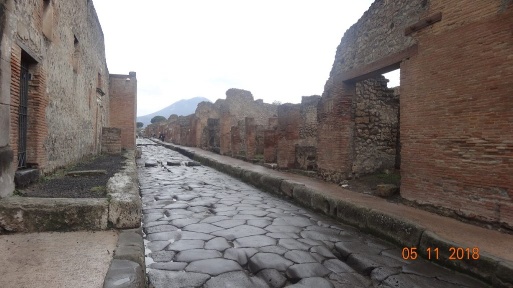 We visited Pompeii on our train tour to Italy