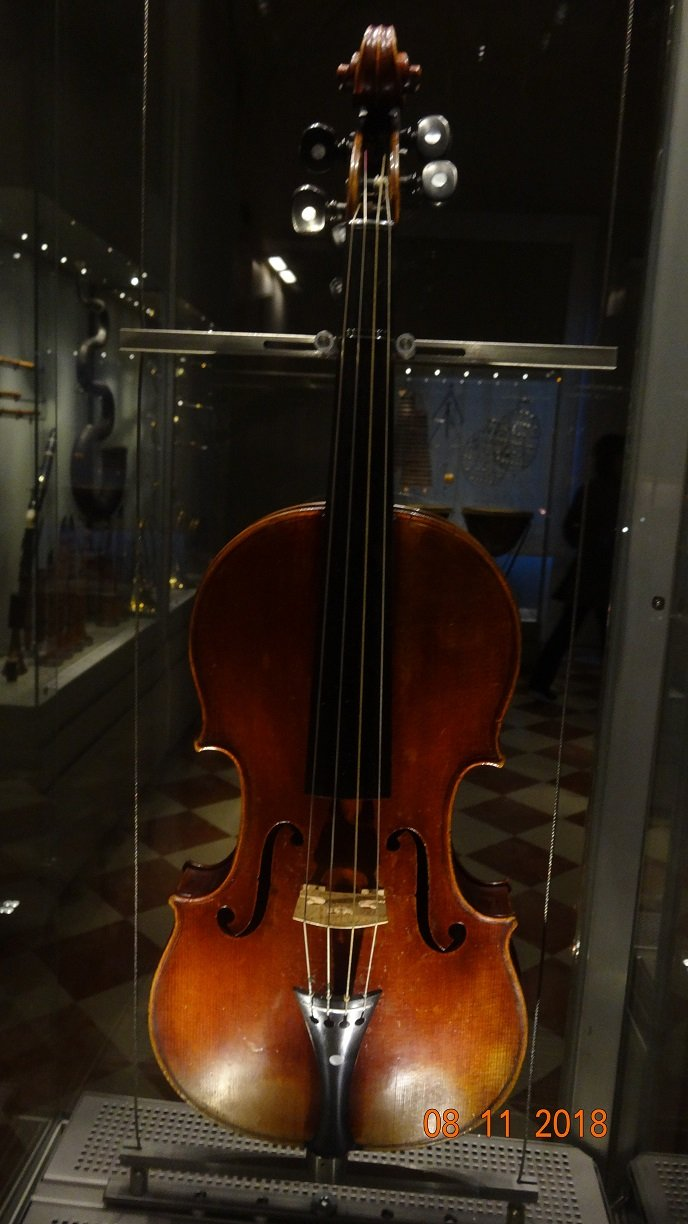Original violin by Antonio Stradivari in the Museum of Musical Instruments at the Accademia Gallery