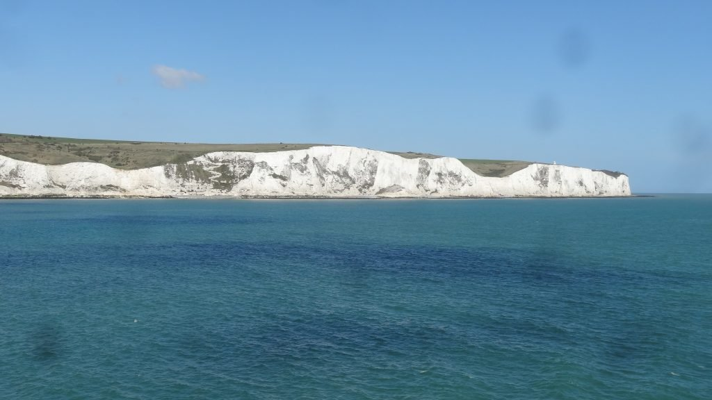 You get a fabulous view of the white cliffs of Dover as you leave the UK on one of the cross channel ferries