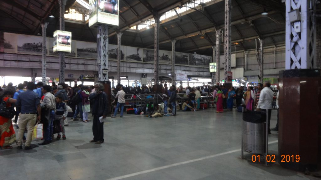 Kolkata station in India was very busy but there's plenty of signs