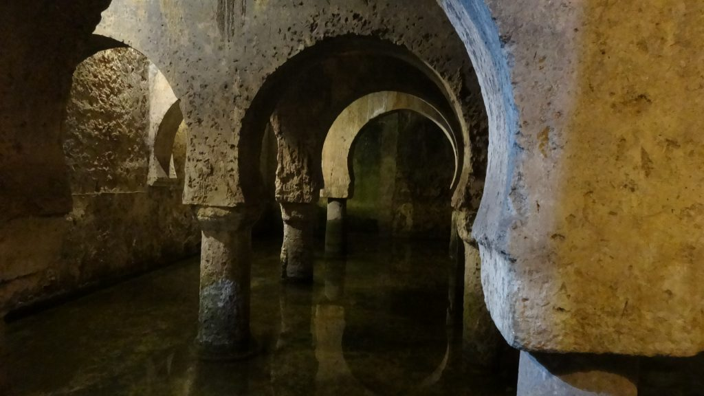 An underground reservoir under the city museum in Cacares