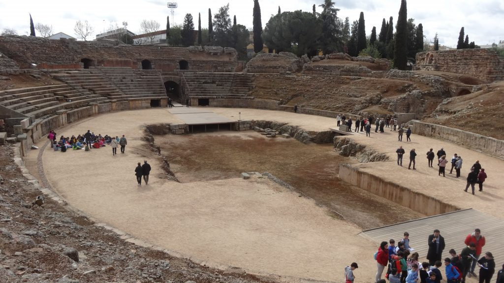 The large arena inside the amphitheatre at Merida