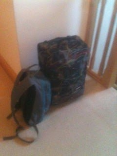 This is my suitcase and backpack for our round the world trip.