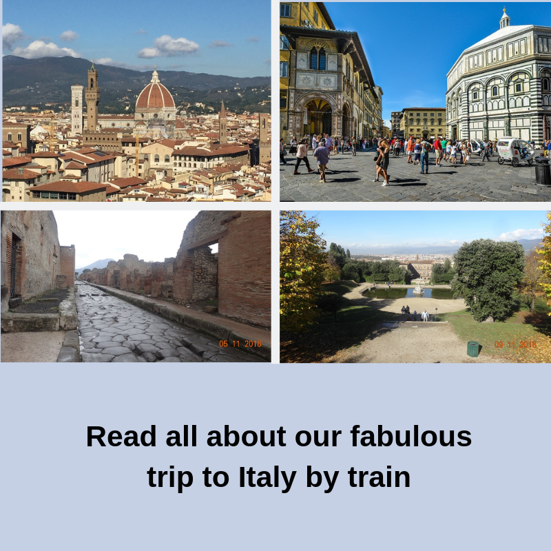 Read all about our fabulous trip to Italy by train