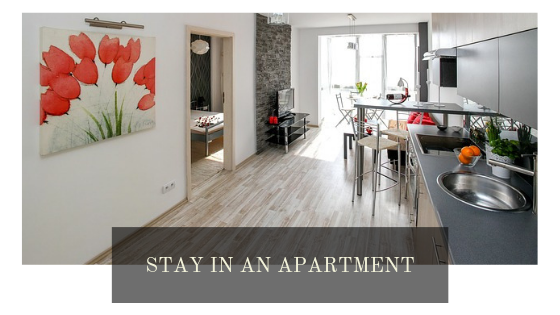 Stay in an apartment