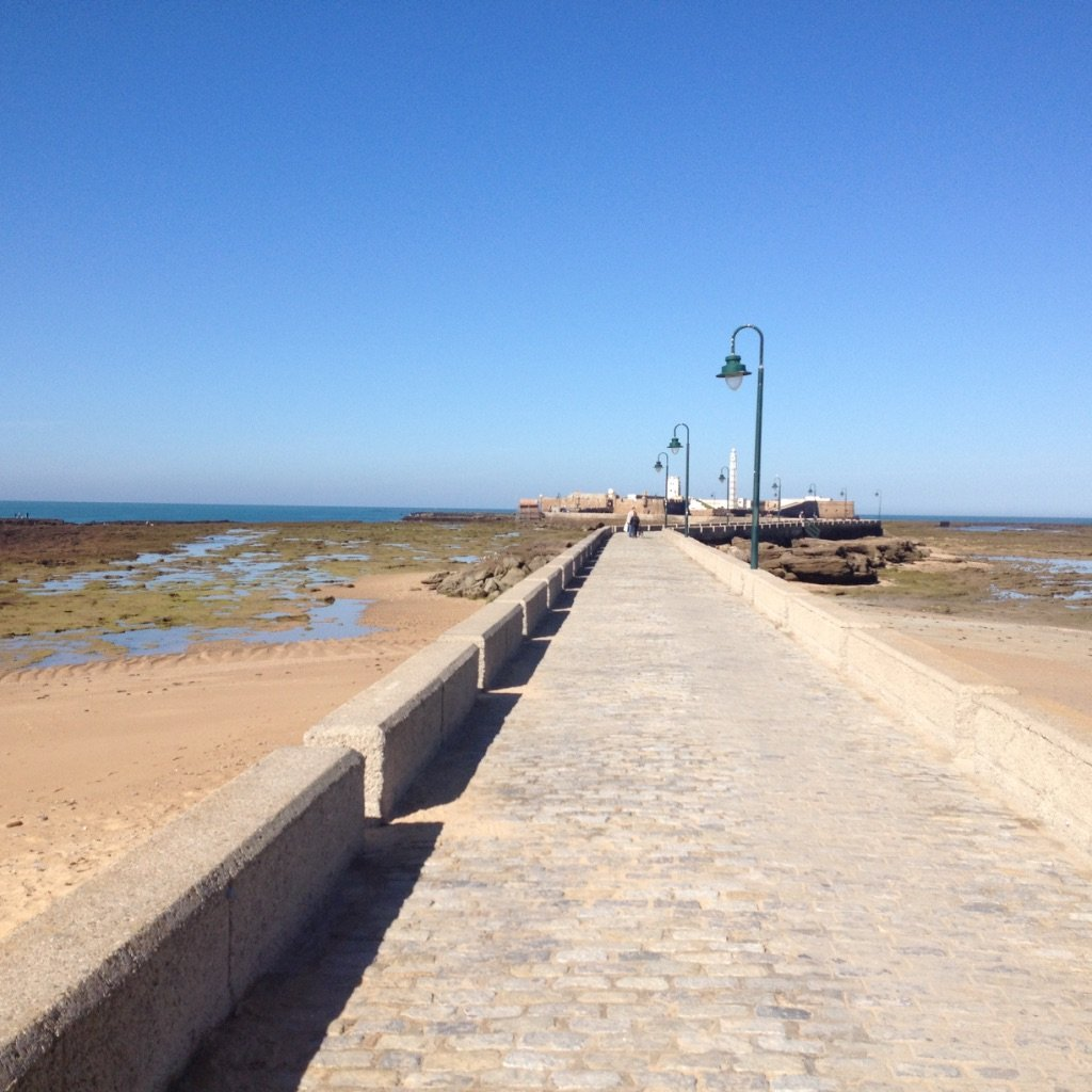On the causeway in Cadiz