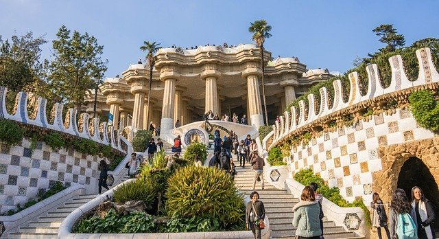 Best Places to Visit in September in Europe Parc Guell in Barcelona