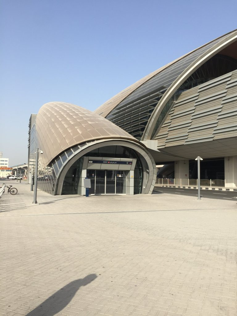 We Travel to India  On the way to India Dubai Metro Entrance