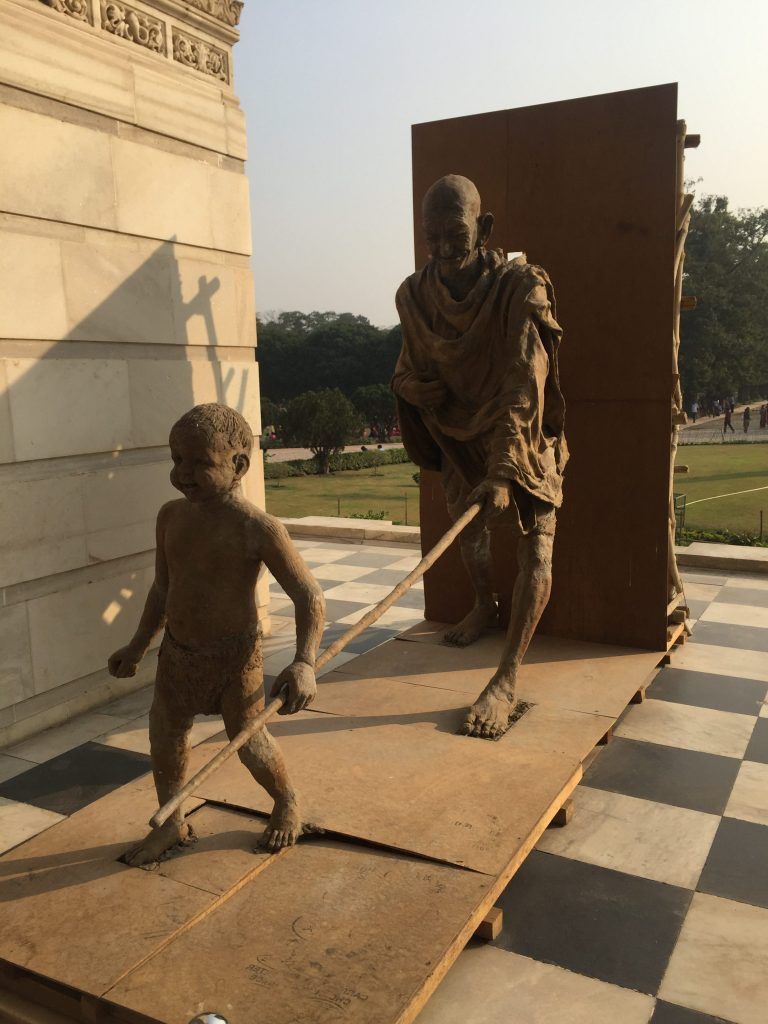 Gandhi Statue at the Victoria Memorial Museum