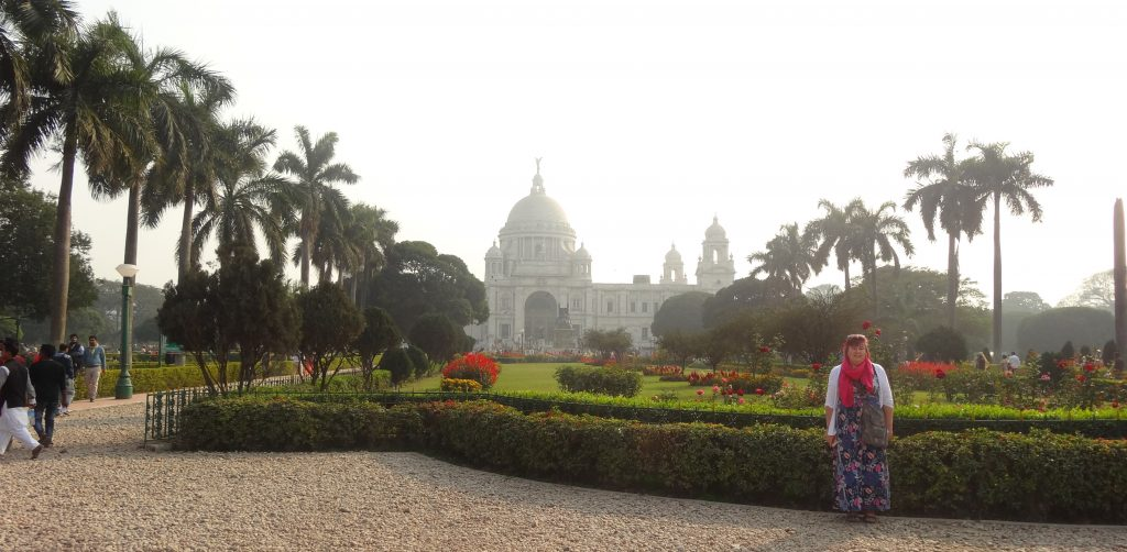 We Travel to India Angela at Victoria Memorial Kolkata