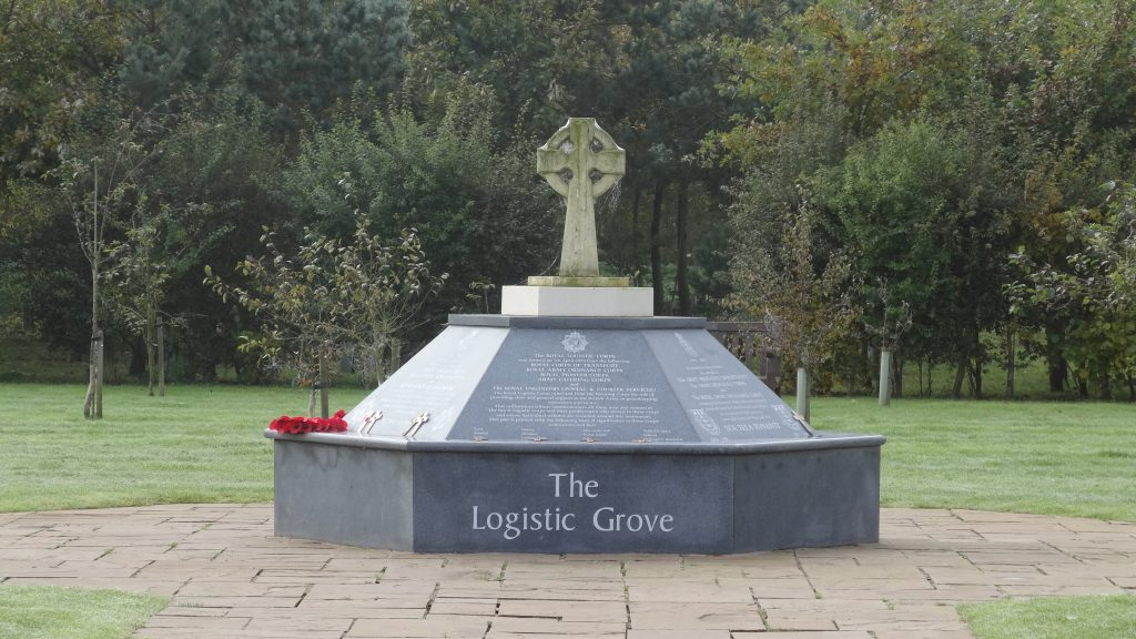 The National Arboretum Staffordshire The memorial in the Logistic Grove