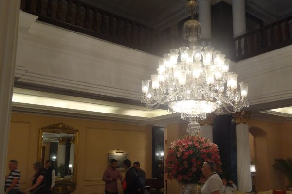 Lobby of the Oberoi Grand Hotel - Our base for our Kolkata City Tour