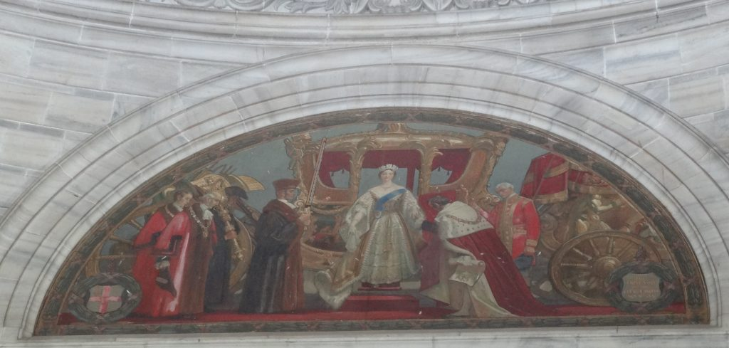 Semicircular Painting of Queen Victoria