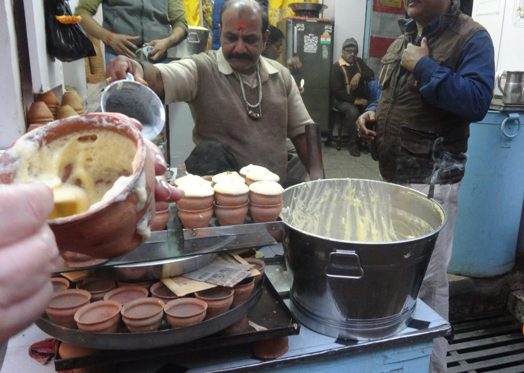 On the food tour in Varanasi