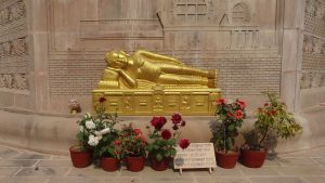 Golden Reclining Buddha in Sarnath