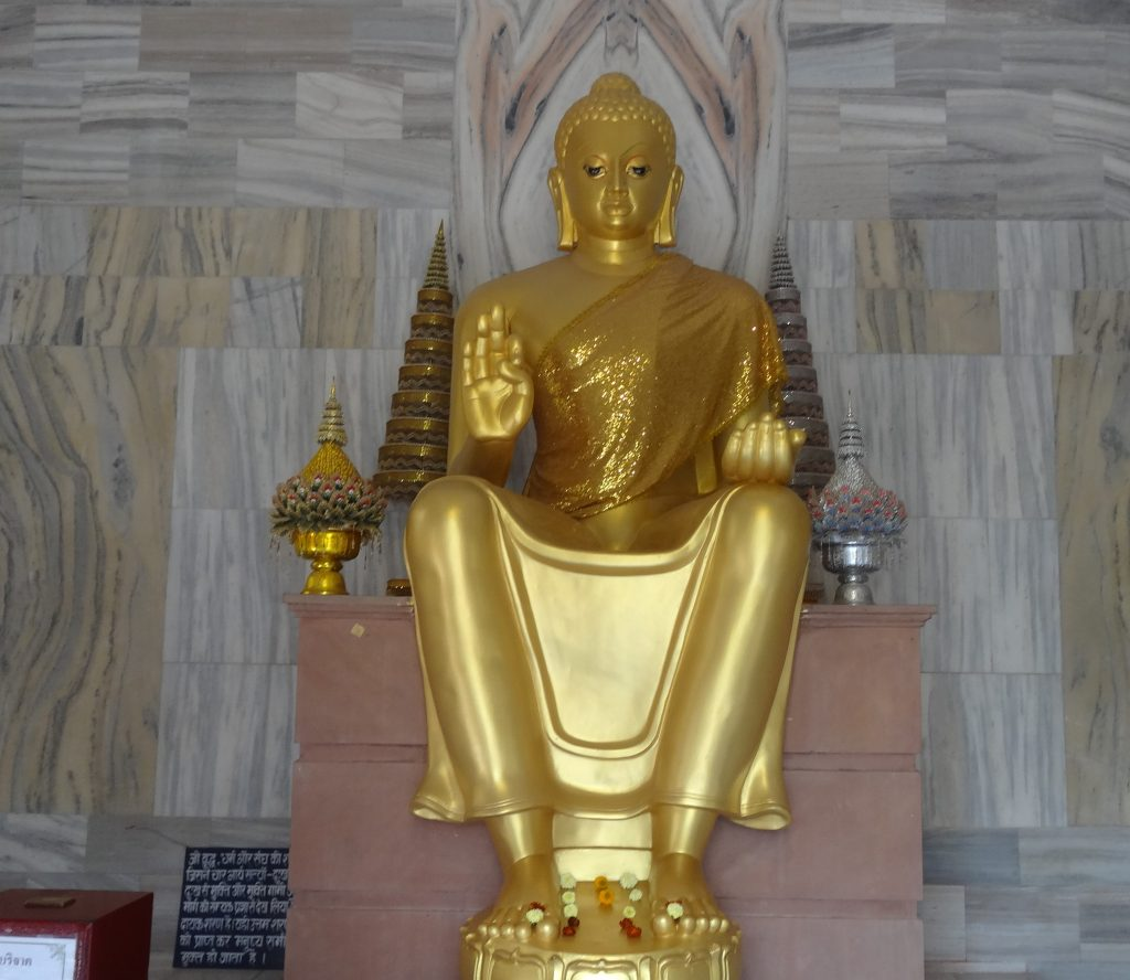 Golden Buddha inside the Temple at Sarnath