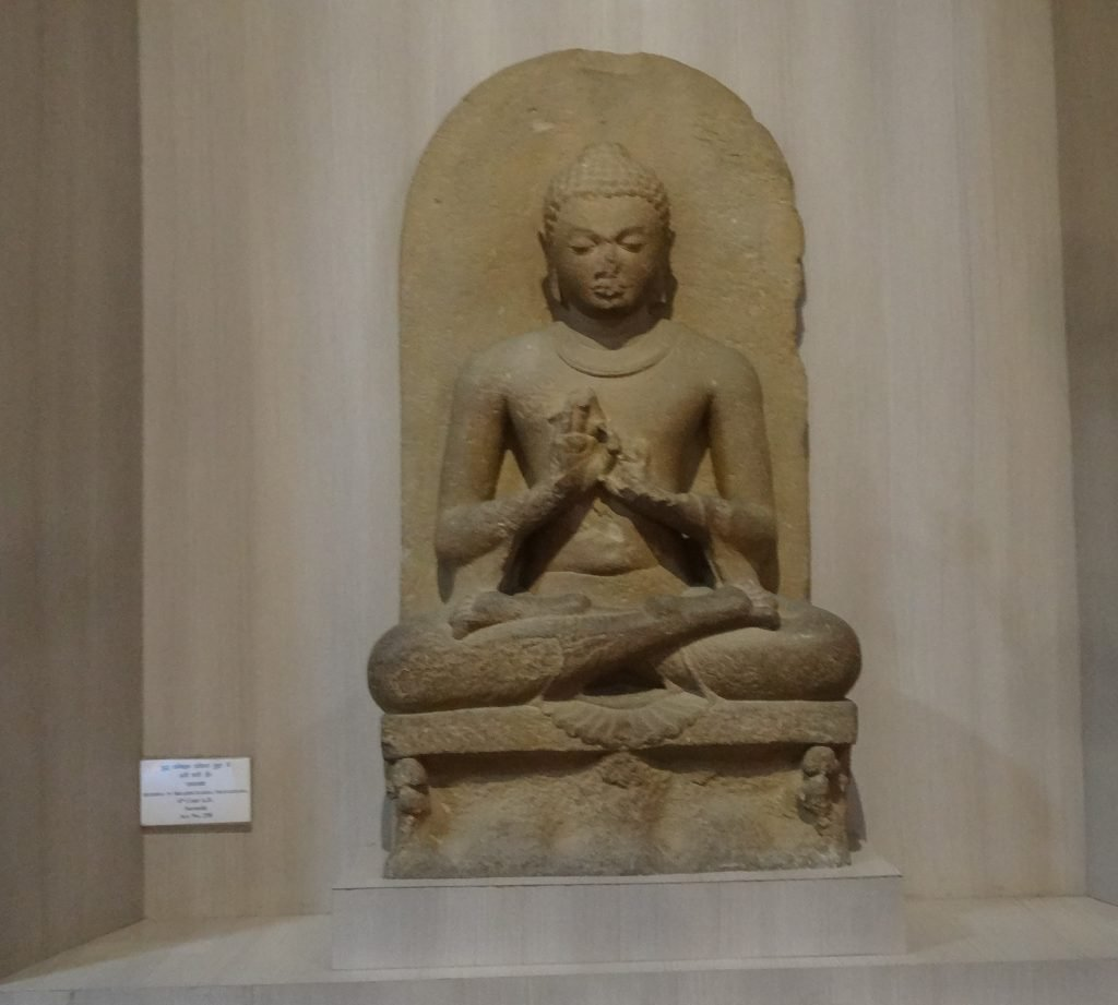Statue of Buddha at Sarnath Museum