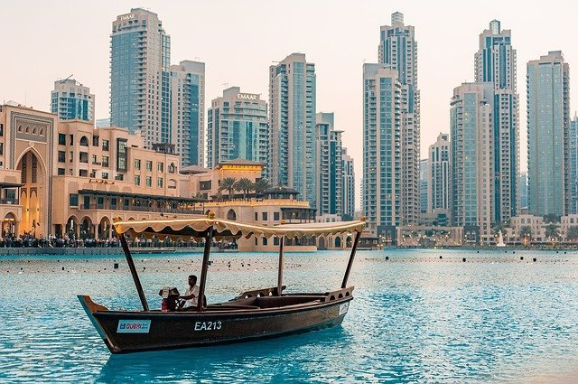 Dubai skyline from the water