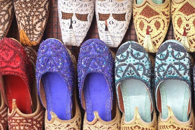 Beautiful shoes for sale at the market