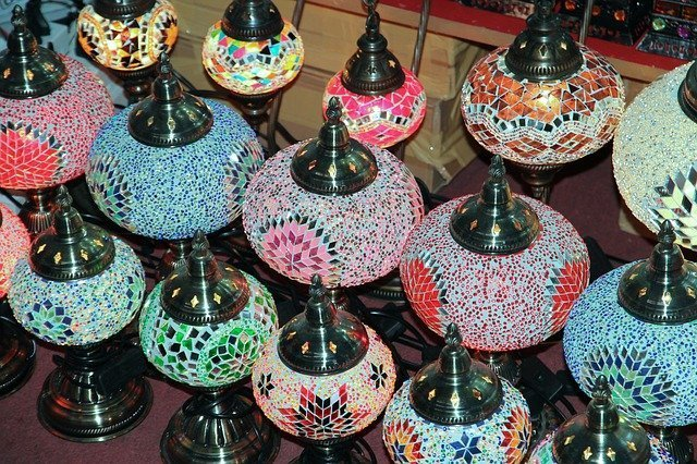 Decorated Lamps for sale in the market