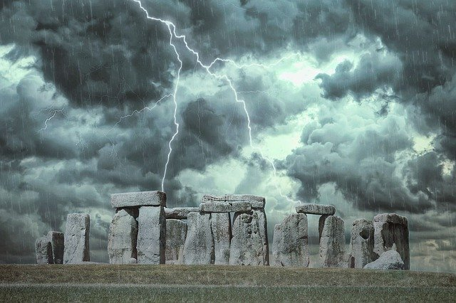 Visiting Stonehenge during a storm isn't much fun but it looks spectacular