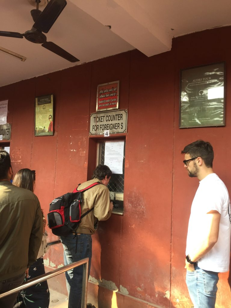 Look for the foreigners' queue at the Red Fort in Delhi