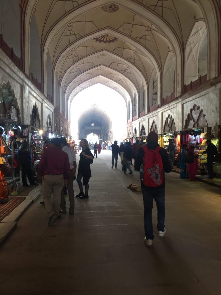 Shopping bazaar inside the Red Fort