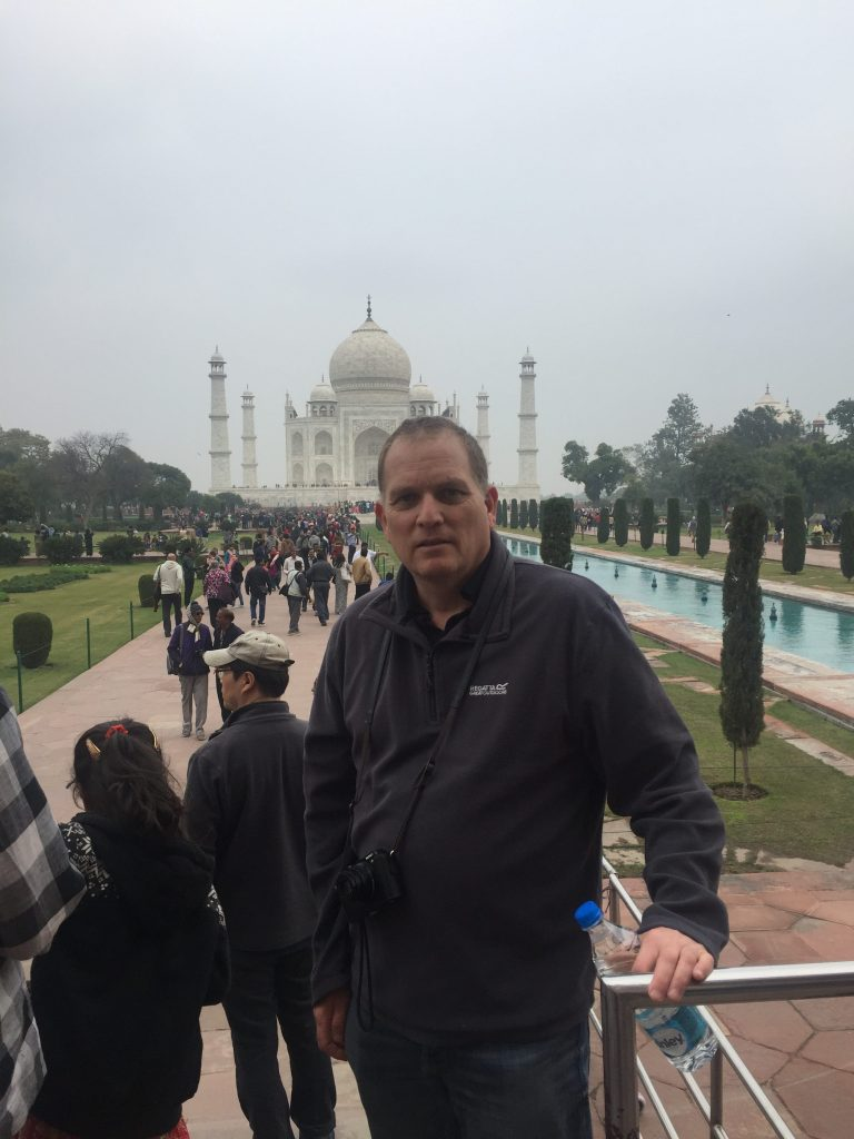 Paul at the Taj Mahal
