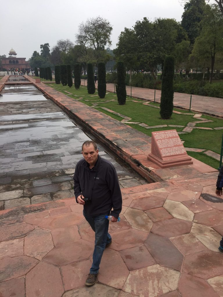 Outside the Taj Museum