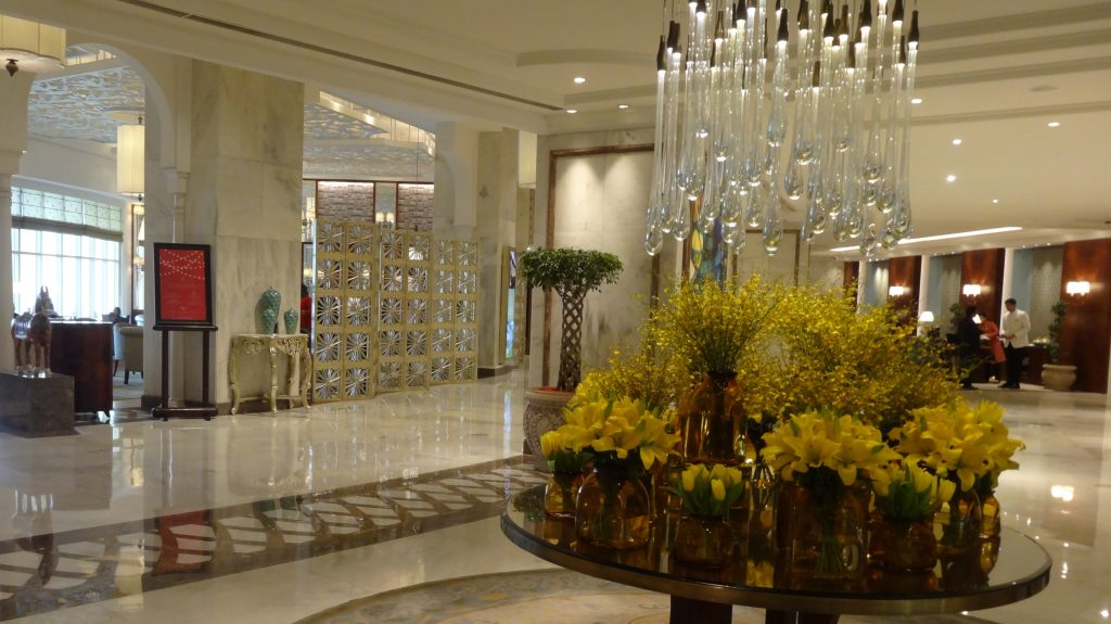 The Lobby of the Taj Palace Hotel