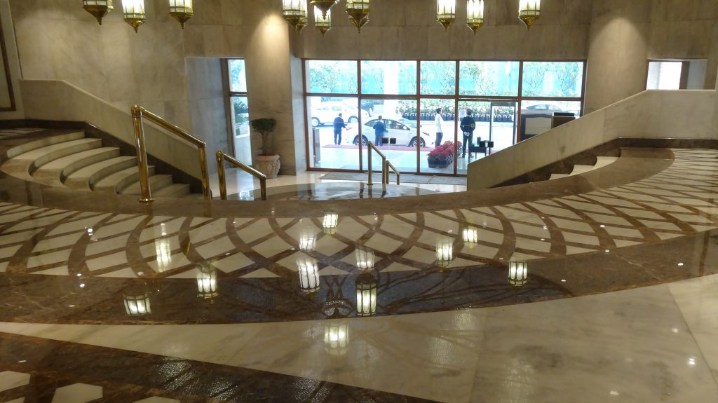 Entrance to the Taj Palace Hotel Delhi