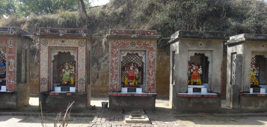 Shrine for village offerings