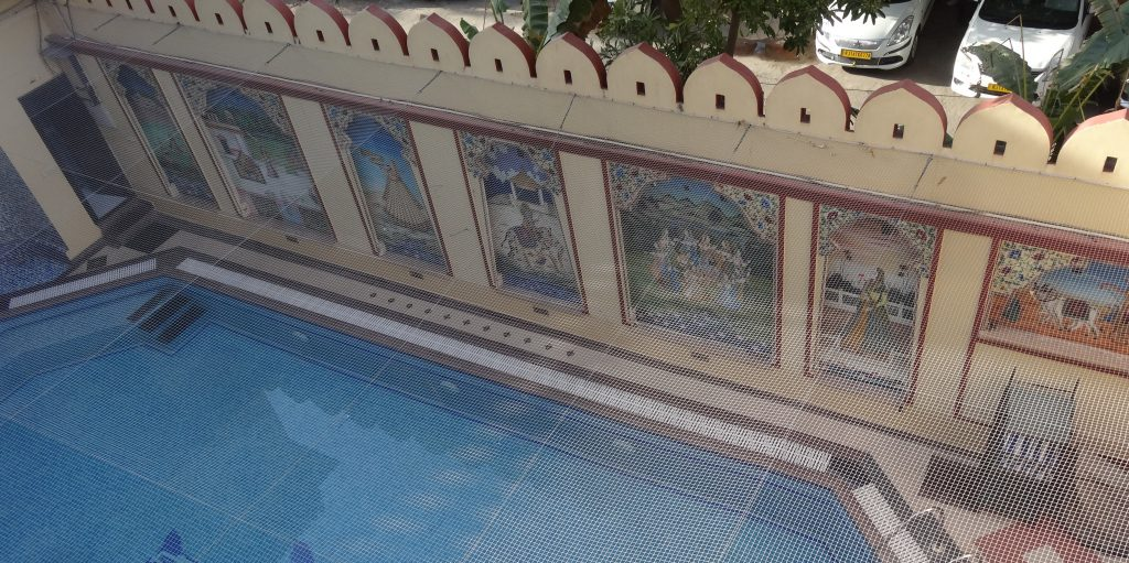 Swimming Pool at Umaid Bhawan Hotel in Jaipur