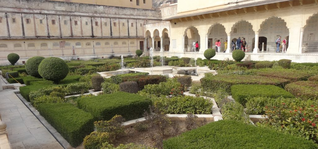 Amber Fort Gardens near the Hall of Private Audience