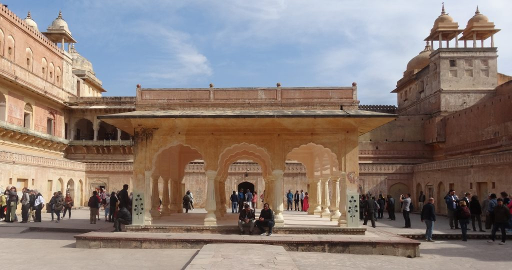 Jaipur Sightseeing Tour Inner Courtyard at the Amber Fort in Jaipur