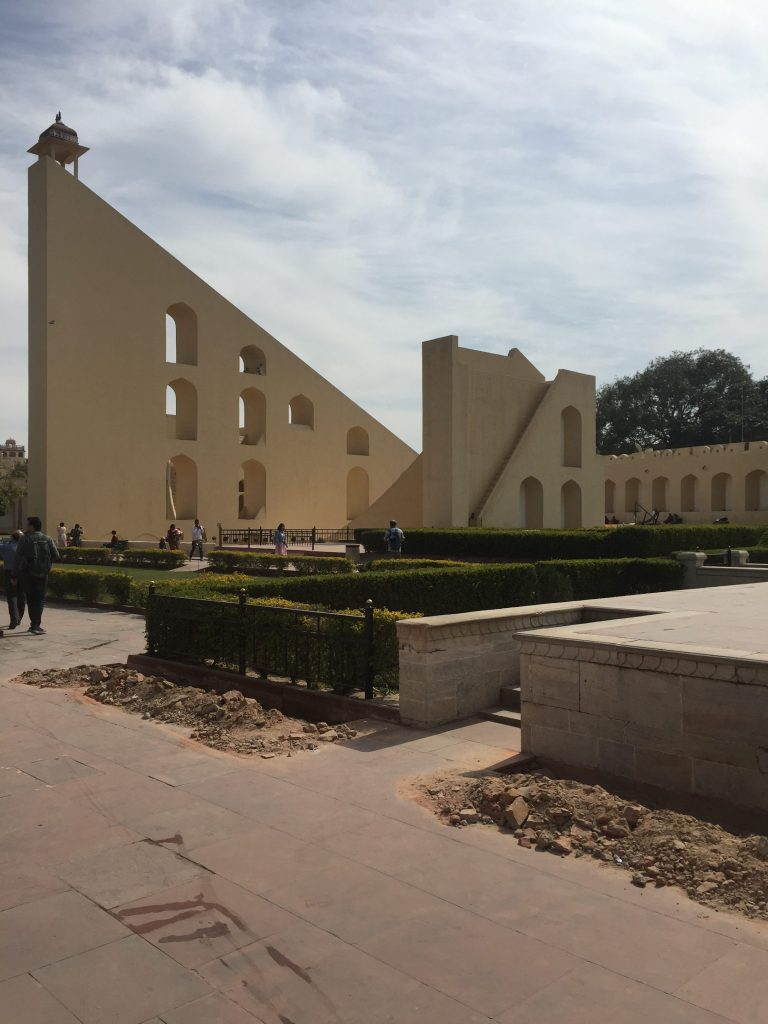 The Sundial which is the centrepiece of the Jantar Mantar in Jaipur