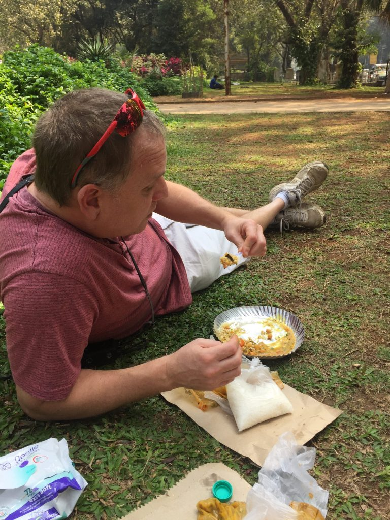 Travel to India Lunch in the park delivered by dabbawalaby