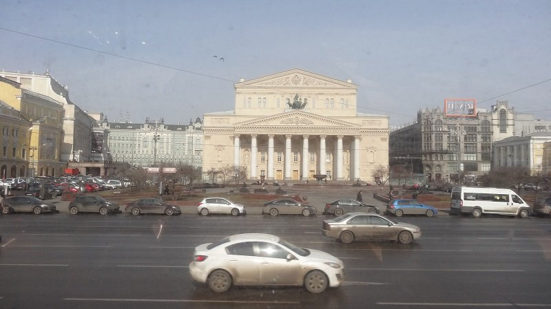 The Bolshoi Ballet from the top deck of the Sightseeing Bus