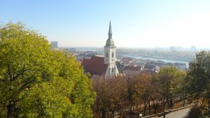 View across Bratislava from the castle