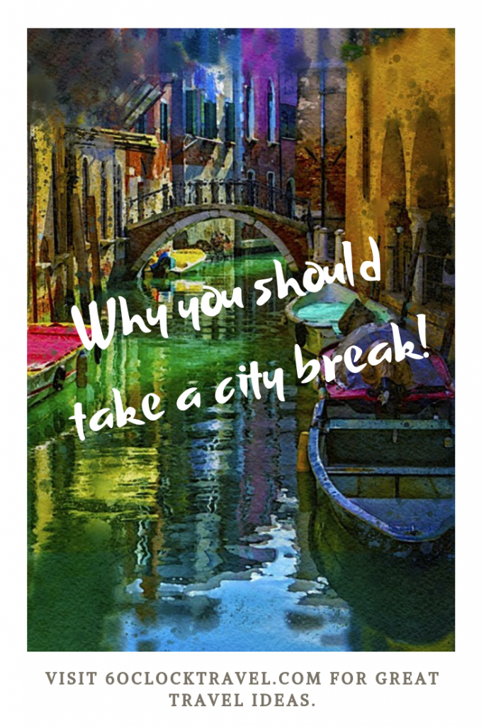 Why you should take a city break. Visiting a city offers so much choice for entertainment and sightseeing. Find history and culture or just relax with great food and wine. A city break truly offers something for everyone.