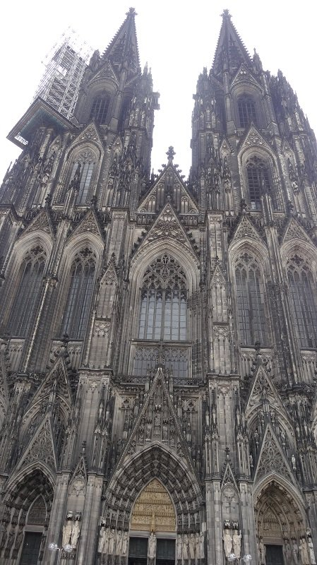 Travelling from London to Moscow by Train Cologne Cathedral