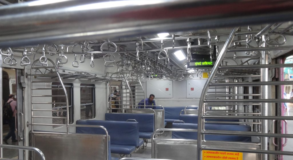 Inside the local Mumbai train